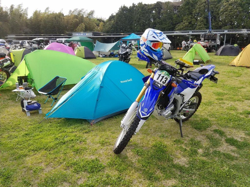 WR250Rでキャンプ