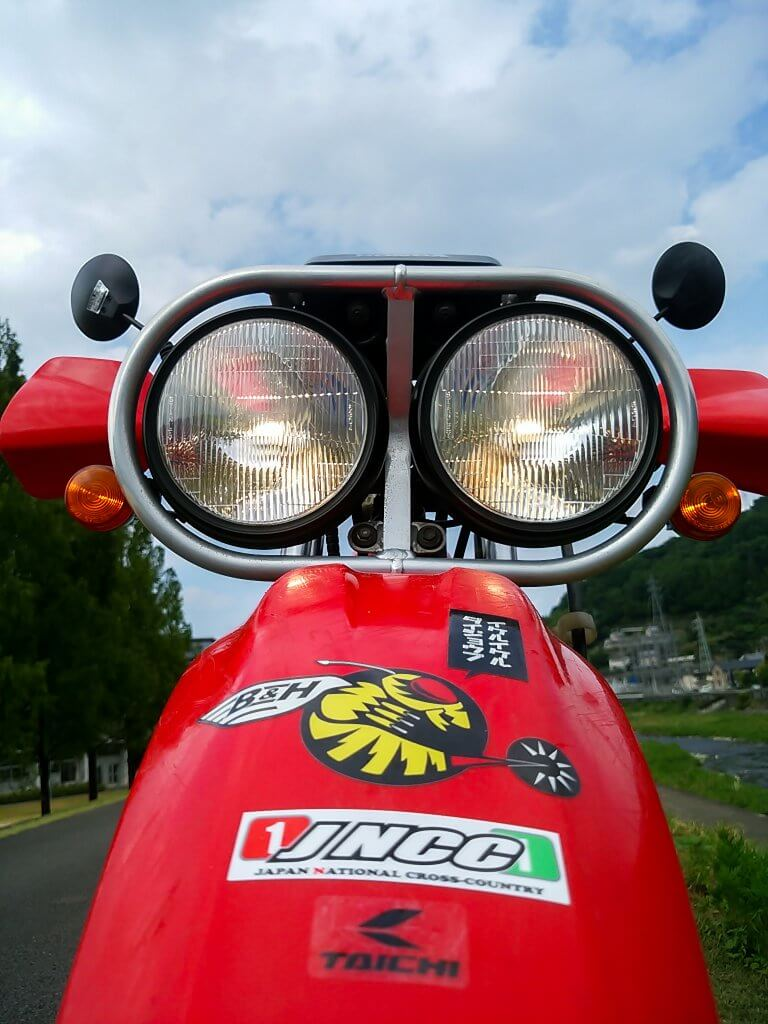 XR250 BAJAのヘッドライト