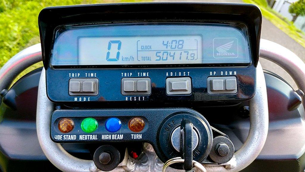 5万キロ以上走行したXR250 BAJAのメーター