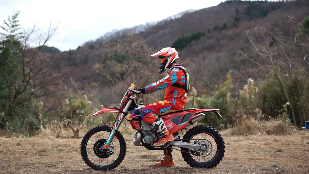 KTM 250EXCとぼっちバイカー