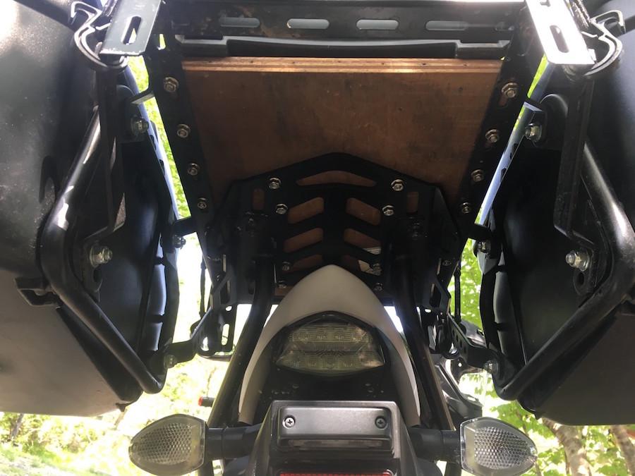 GSX-S1000F ABSの自作キャリア