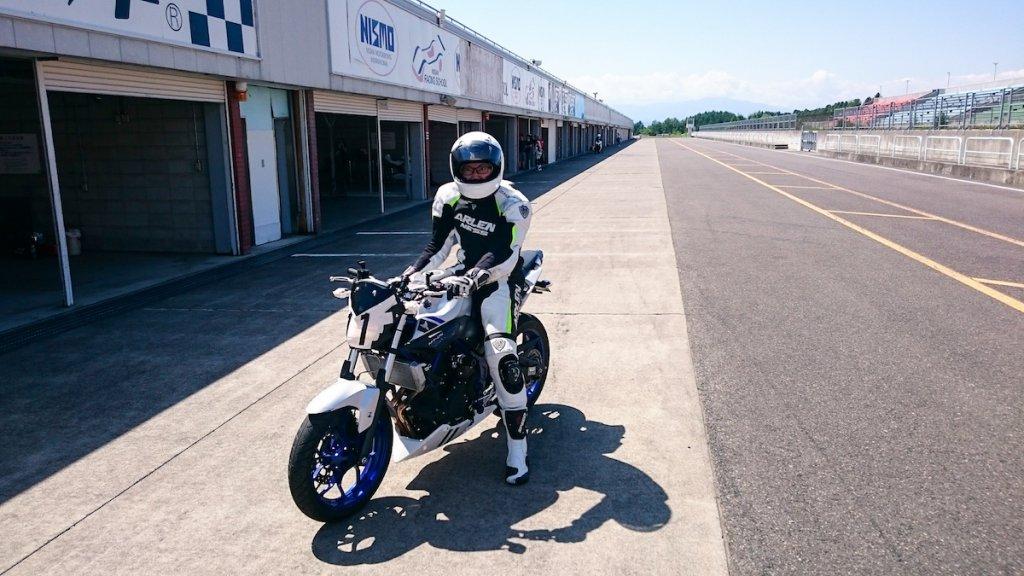 サーキットだとバイクの限界を知ることができる