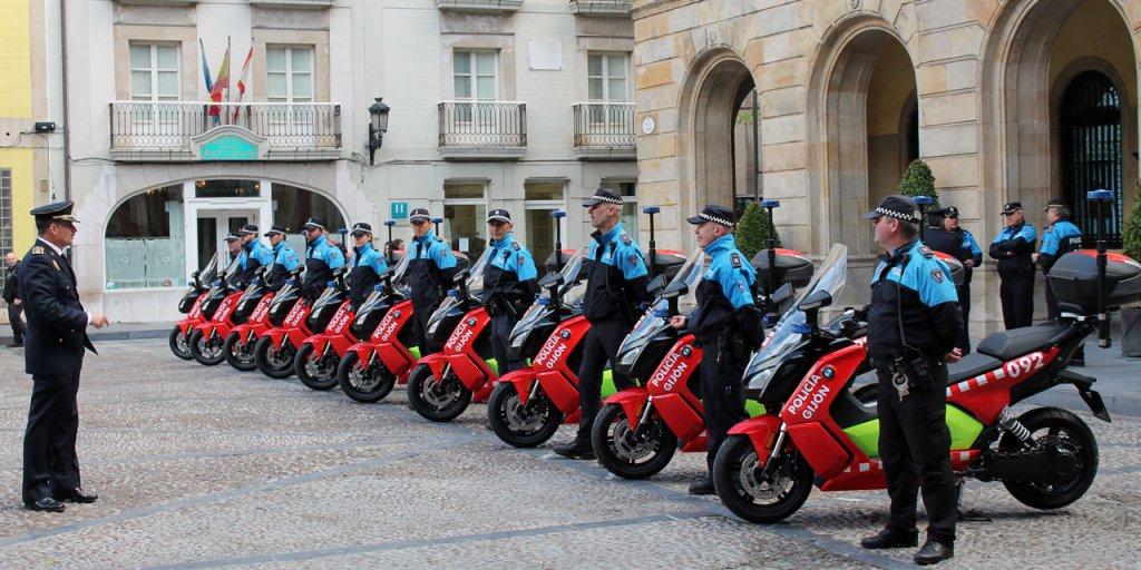 スペインのGijón(ヒホン)では警察がC evolutionを導入した