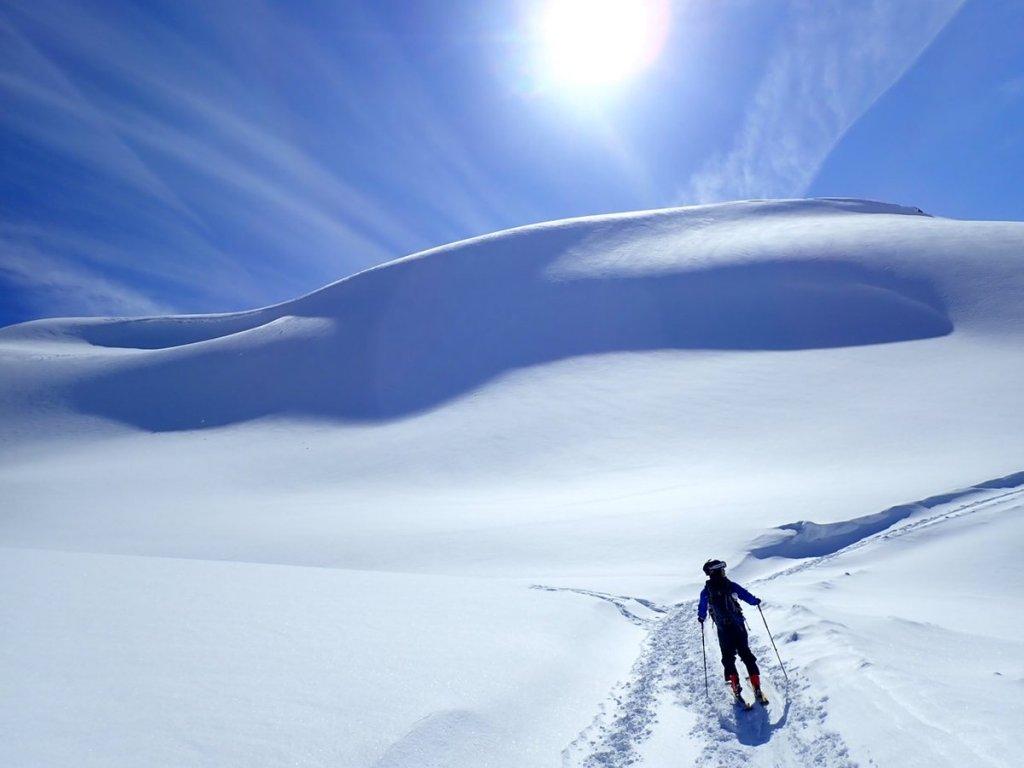山スキーの写真